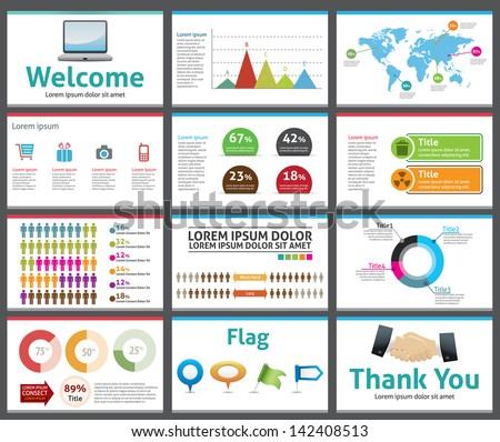 presentation template business company slide show のベクター画像