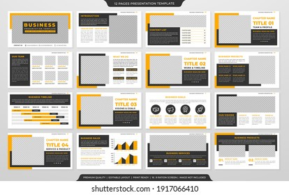 presentation template design with clean and minimalist layout style use for company profile