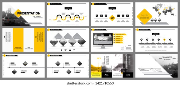 Presentation template. Elements of a business slide on a white background. Vector of infographic. Rhombus design. Use as a postcard, annual report, marketing, banner advertising, text, design services