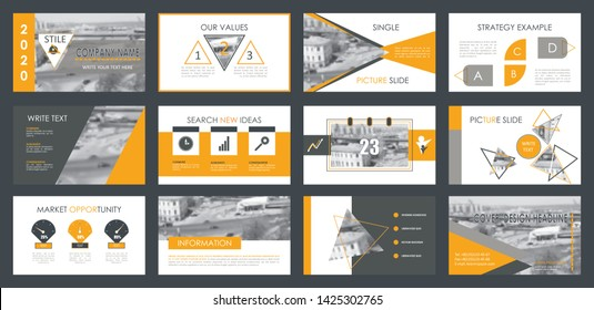 Presentation template. Elements for slide presentations. Use also as a flyer, brochure, corporate report, marketing, advertising, annual report, banner.