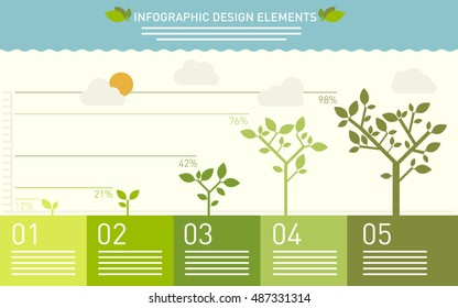 Presentation template with the evolution of a tree