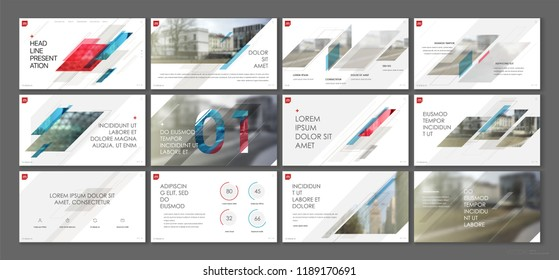 Presentation template. Geometric elements for slide presentations on a white background. Use also as a flyer, brochure, corporate report, marketing, advertising, annual report, banner. Vector
