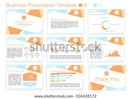 presentation template powerpoint のベクター画像素材 ロイヤリティ