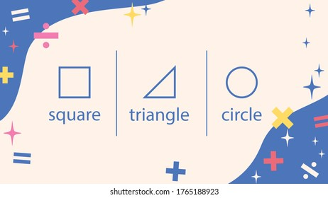 Presentation template of sparkle and Plus, minus, multiply, divide sign. Blue background, Vector illuatration.
