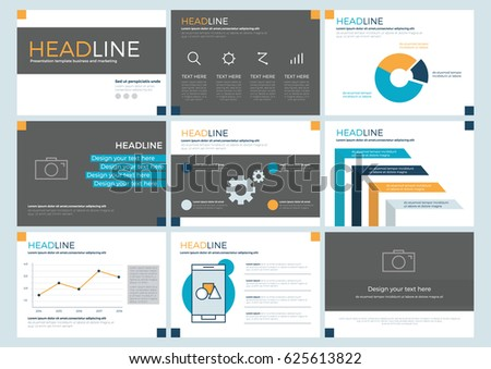 Presentation Templates Power Point Template Concept Stock Vector