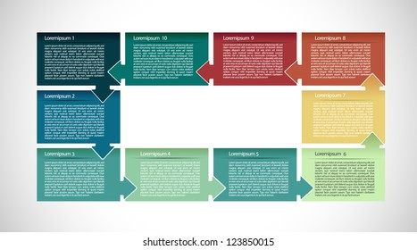 Presentation with ten text box