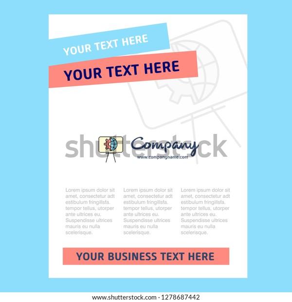 Presentation Title Page Design Company Profile Stock Vector
