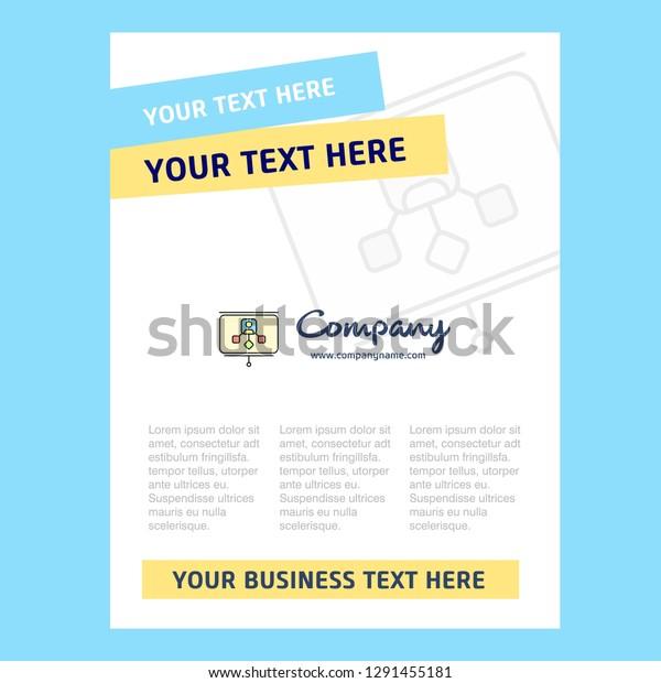 Presentation Title Page Design Company Profile Stock Image