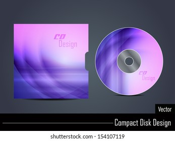 Presentation of vector cd cover design.