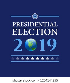 Presidental election vector background