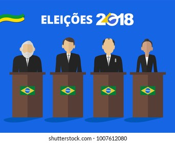 Presidential candidates of Brazil in debate 2018 - Elections 2018