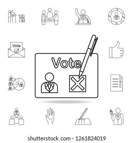 presidential choice icon. Detailed outline set of elections element icons. Premium graphic design. One of the collection icons for websites, web design on white background