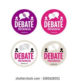 Presidential debate. Elections Mexico 2018. Debate presidencial. Elecciones México 2018, spanish text.