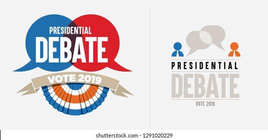 Presidential debate logo