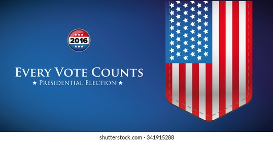 Presidential election 2016 banner or poster