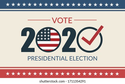 Presidential election 2020. United States election vote banner. Vector Illustration.