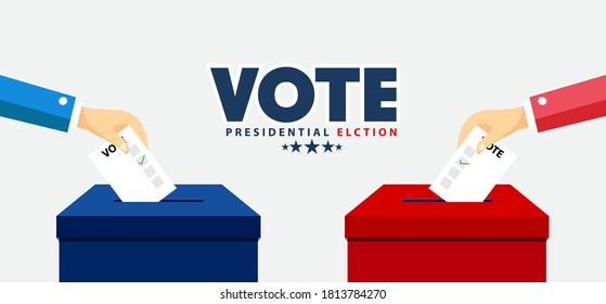 Presidential Election Banner Background for year 2020. American Election