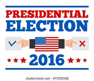 presidential election banner poster design