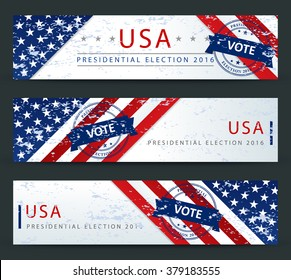 Presidential election in the USA - banner template