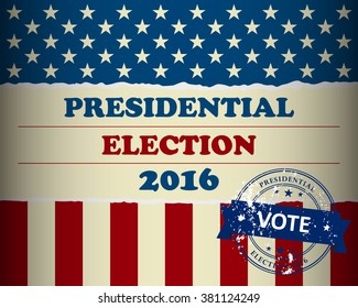 Presidential election in the USA - simple design