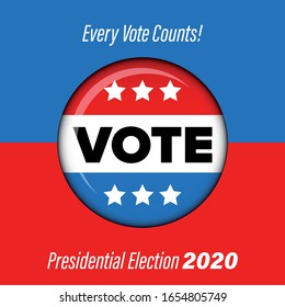 Presidential election Vote badge poster