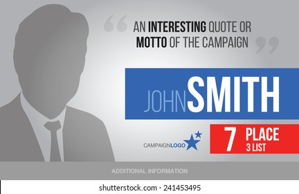 presidential or parliament elections poster template vector billboard for campaign