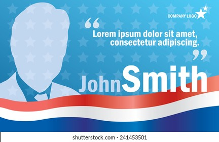 Presidential or parliament elections poster template, vector billboard for campaign