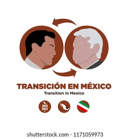 Presidential transition in Mexico. President elect of Mexico, Andres Manuel Lopez  Obrador. And Enrique Pena Nieto actual president.