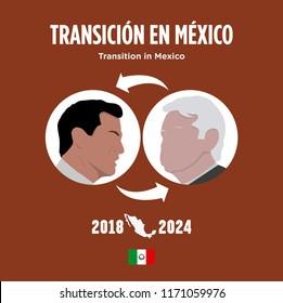Presidential transition in Mexico. President elect of Mexico, Andres Manuel Lopez  Obrador. And Enrique Pena Nieto actual president.