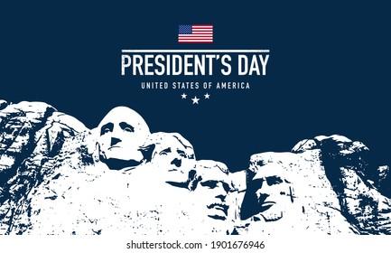 President's Day Background Design. Banner, Poster, Greeting Card. Vector Illustration.