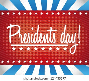 presidents day background, united states. vector illustration