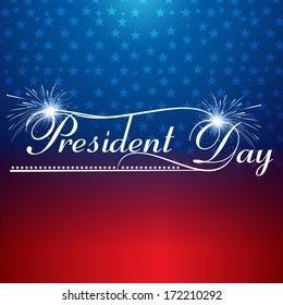 Presidents day background united states stars illustration vector
