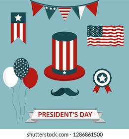 President's Day hand drawn lettering and president's hat for americans holiday celebration. Stock vector - Vector illustration