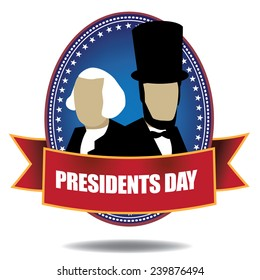 Presidents Day Icon stock illustration