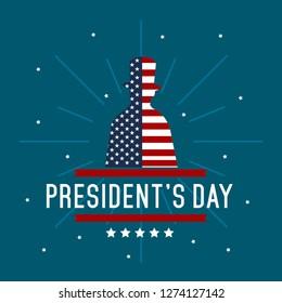 President's Day Illustration Poster Background