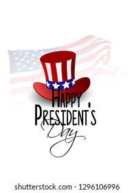 President's Day  poster, header or banner design with party flag