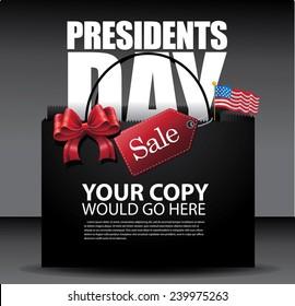Presidents Day Sale Background  EPS 10 vector stock illustration - Shutterstock ID 239975263