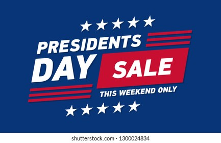 Presidents day sale banner . Vector template.
