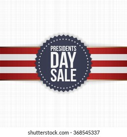 Presidents Day Sale blue Label with striped Ribbon