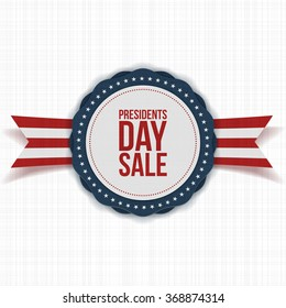 Presidents Day Sale national Banner with Text