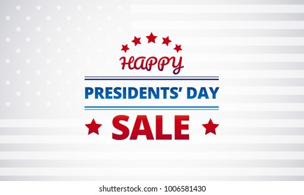 Presidents Day Sale vector background
