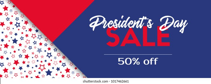 President's day sale. Vector banner template