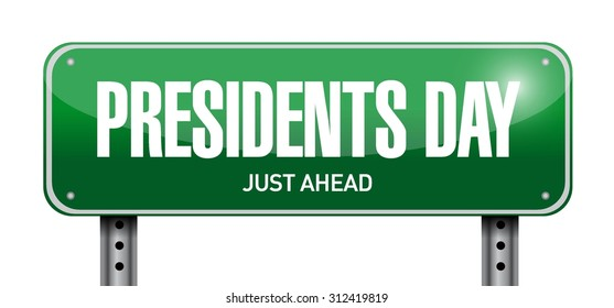 presidents day street sign illustration design icon graphic