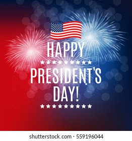 Presidents Day in USA Background. Can Be Used as Banner or Poster. Vector Illustration EPS10