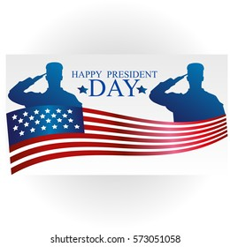 Presidents Day in USA Background. Can Be Used as Banner or Poster. Vector Illustration EPS10. United States of American President holiday. Veterans Day