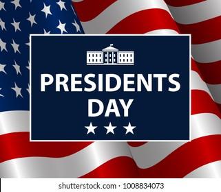 Presidents Day in USA Background. United States of America celebration. Vector illustration.