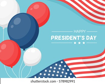 Presidents Day in USA vector background