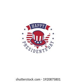 Presidents day. Vector typography, text or logo design, american hat logo design template. Awesome capitol with star logo