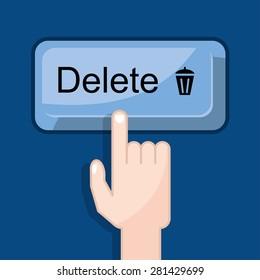 press button delete