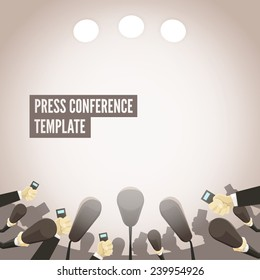 Press conference template